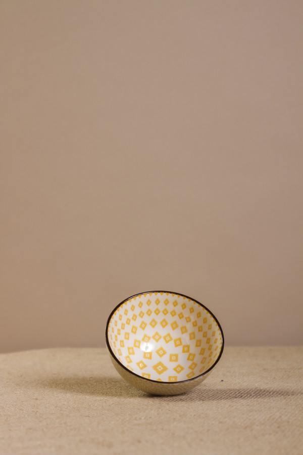 Bowl Estampado Rombo Amarillo